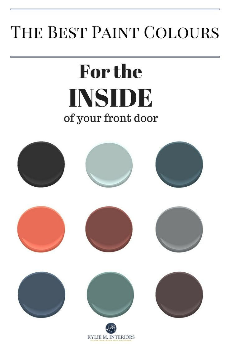 The best Benjamin MOore Paint colours for the inside of the front door by Kylie M Interiors