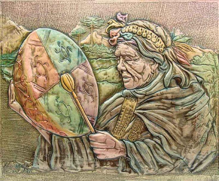 Kultrun(tambor ritual) Mujer Medicina