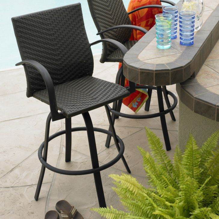 Modern Outdoor Greatroom Naples Swivel Bar Stool Design Offers Powder  Coated Aluminum Frame And Hand  · Outdoor FurnitureGarden ...