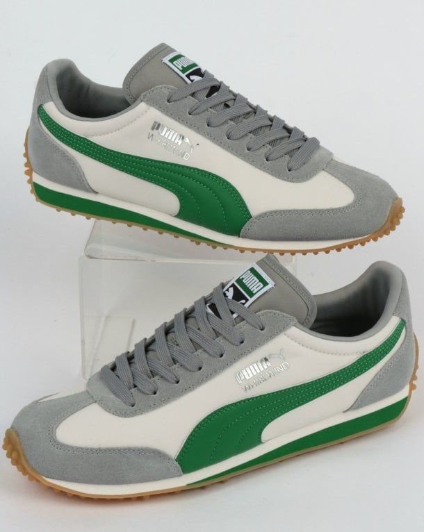52815fc3597af Puma Whirlwind Classic Trainer Grey/Green,running,shoe,suede,nylon ...