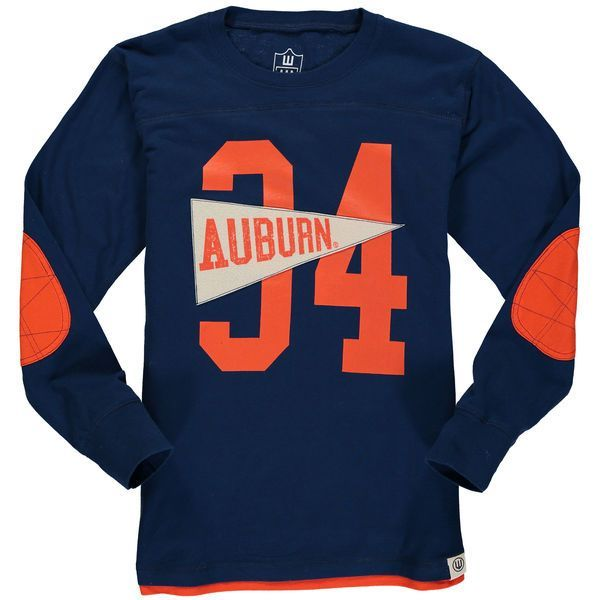Auburn Tigers Wes & Willy Youth Pennant Jersey Long Sleeve T-Shirt - Navy - $34.99