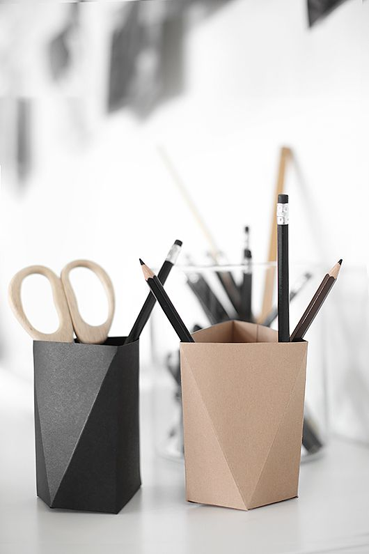 diy Origami pen holder