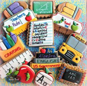 iskola témájú mézeskalács - school themed cookies