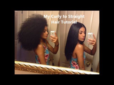Watch: My Curly to Straight Hair Tutorial | jasmeannnn  If this techique won't work for you, then let us do the best trick!  ☎️ 201-568-5858 for appointment. #hair #straightening