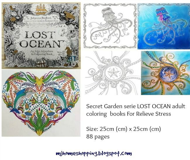 Secret Garden Series LOST OCEAN Adult Coloring Books For Relieve Stress