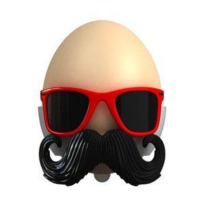 Подставка для яйца «Усатый очкарик»