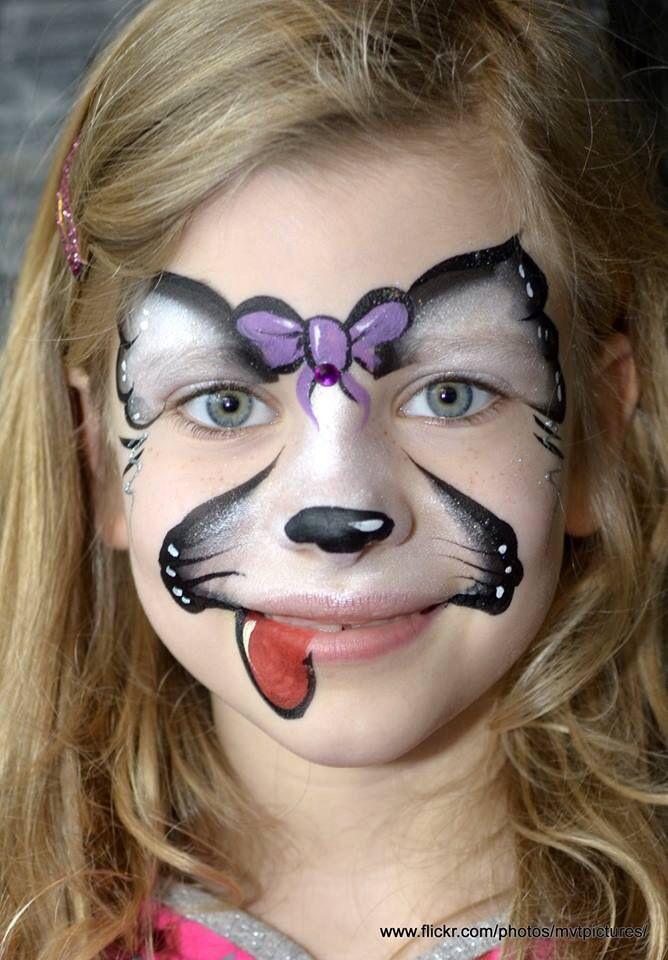Facepaint design sweet dog. Wendy Beekhuizen/Schmink-ie.com