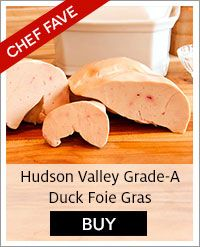Order online. Our gourmet foie gras sampler includes fresh slices, torchon, medallion, mouse and French kisses.