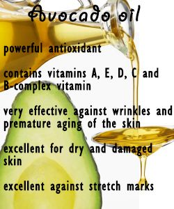 Avocado Oil - This is my choice for a carrier oil for all my oil applications