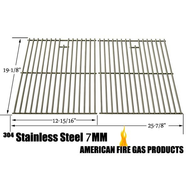 2 PACK HEAVY DUTY STAINLESS STEEL COOKING GRATES FOR SONOMA PF30LP, BROIL-MATE 735269, JENN-AIR GAS GRILL MODELS Fits Compatible Sonoma Models : PF30LP Read More @http://www.grillpartszone.com/shopexd.asp?id=33965&sid=35060