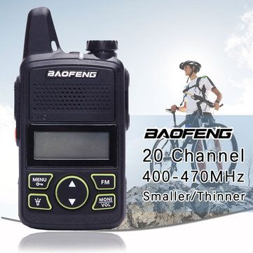 BF-T1 Frequency 400-470MHz 20 Channels Mini Ultra-thin Driving Hotel Civilian Walkie Talkie Sale - Banggood.com