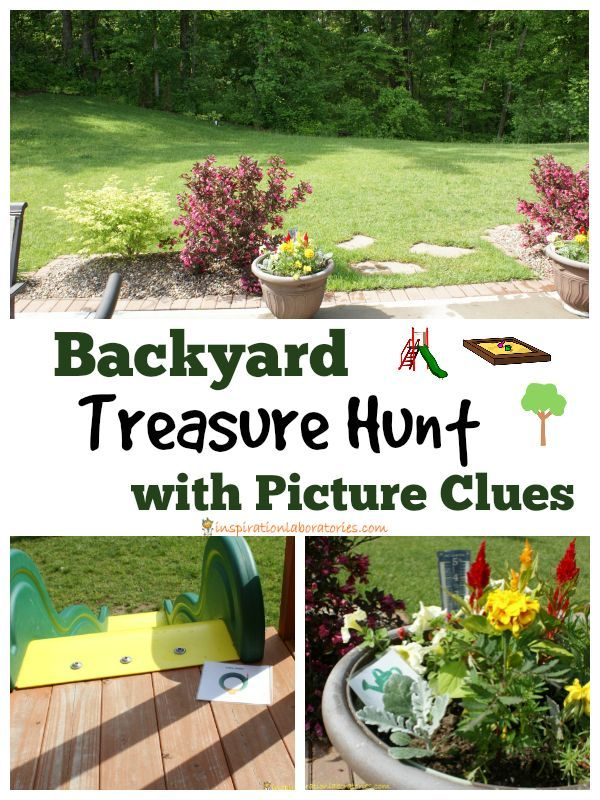 Backyard Treasure Hunt with Picture Clues. This is the perfect activity for a Memorial Day picnic, 4th of July celebration, or any other summertime get together! #ShareFunshine #ad