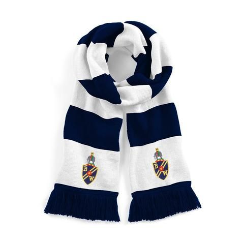 Bolton Wanderers Traditional Football Scarf Embroidered Logo
