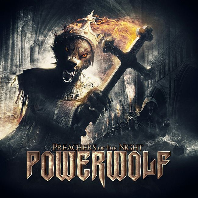 """Powerwolf - Heavy Metal Artwork  """"Raise Your Fist, Evangelist"""", """"Werewolves of Armenia"""", """"We Drink Your Blood"""" and """"Resurrection By Erection"""" are just some of the song titles of this Germany-based power metal assault known as Powerwolf. Since 2003 album after album they have raised their own bar of creating catchy, yet unique songs with visual image that would make even the beast from """"The Howling"""" to crap in his pants (if he had any). Behind the [...]"""