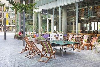 the refinery bar – bars in southbank, bars in southwark, restaurants near waterloo station. landmark blue fin building on southwark street