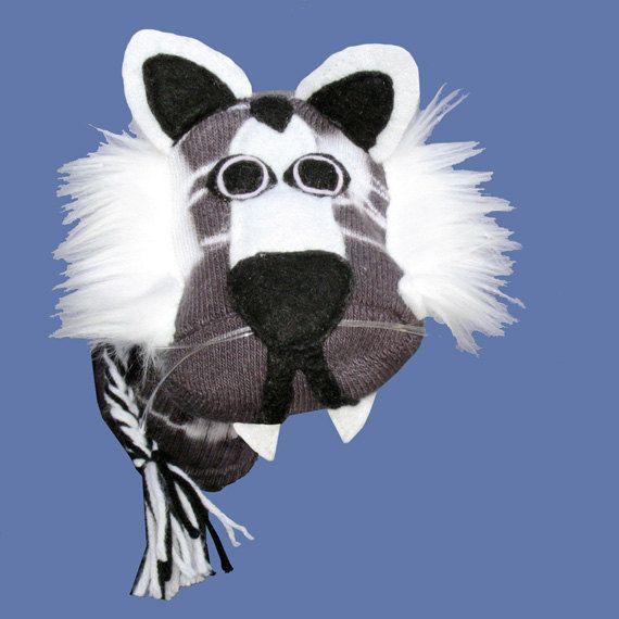 Tigre de Sibérie blanc fait main Sock Puppet par SockHollow sur Etsy
