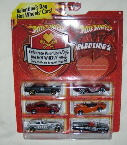 2009 Hot Wheels Valentine Day Exclusive Special Edition Set of 6 Die Cast 1:64 Scale Cars by Mattel