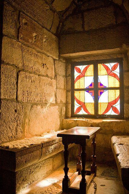 Window seat, Castle of St Peter, Bodrum #castles #windows