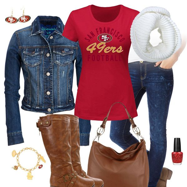 San Francisco 49ers Jean Jacket Outfit