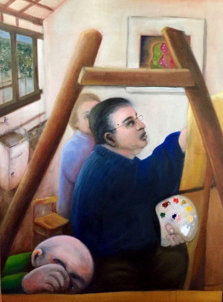 Stavros the art teacher  Oil on canvas 2015