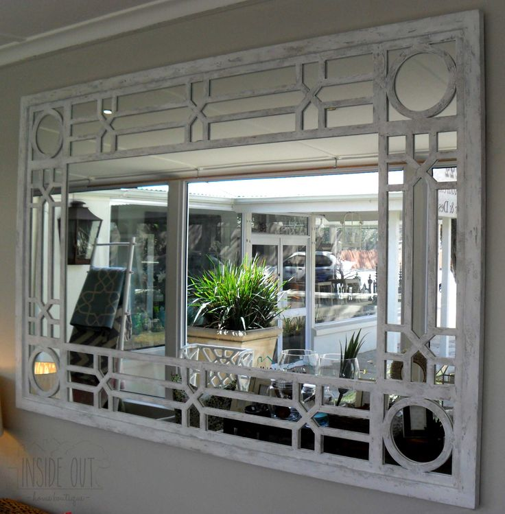 Custom Order - Classic Mirror in White Stucco Finish - 1800 x 1200mm - Inside Out Home Boutique - Please check stock availability