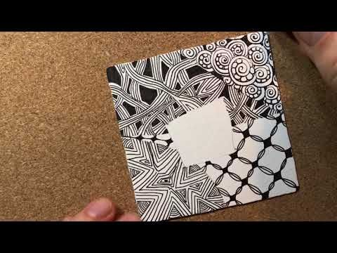 (71) Zentangle® Project Pack #02 -- Day One - YouTube