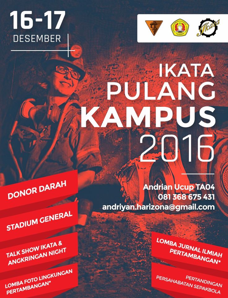 Ikata Pulang Kampus 2016 - UPNVY #poster #flyer #graphicdesign #inspiration