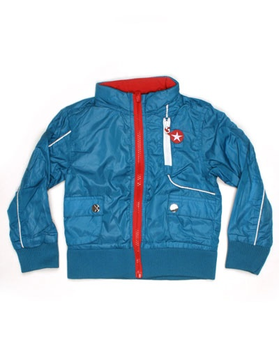 Blue-red reversible jacket - Kik-Kid