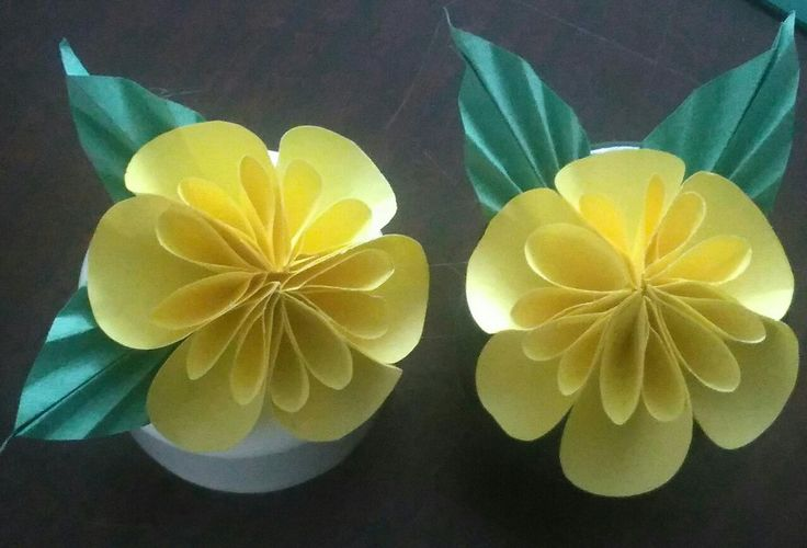 Paper flowers made at the craft group last night.