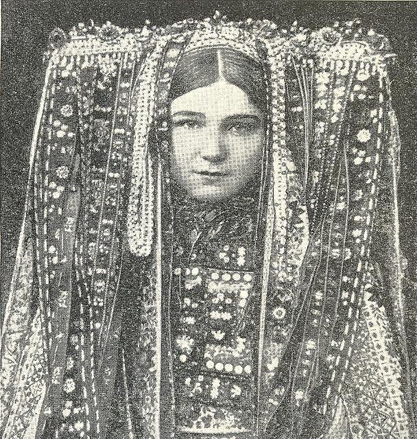 headdress..old photo
