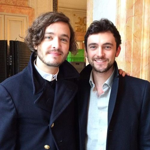 Alex & George, on the set at Versailles.