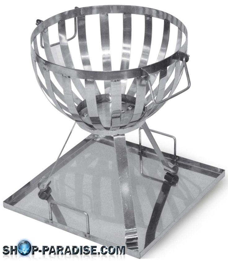 SHOP-PARADISE.COM:  Grill Feuerkorb aus Edelstahl 28,99 €