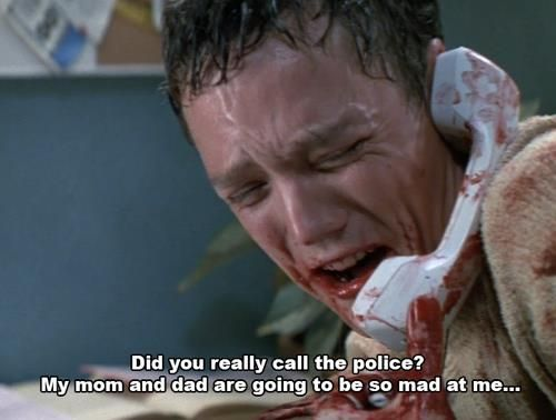 One of my favorite parts of Scream. Matthew Lillard is so funny.