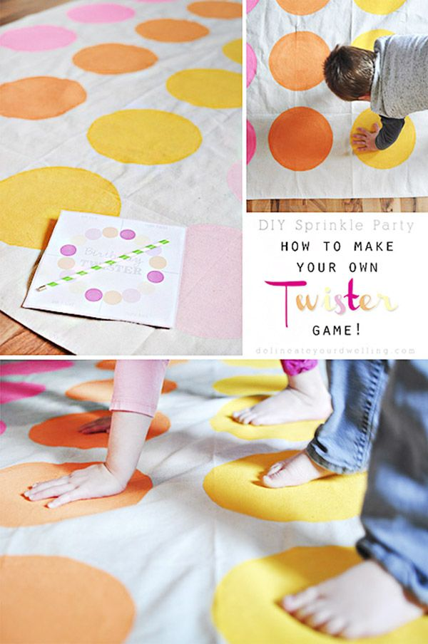 DIY Custom Twister Game, Delineate Your Dwelling