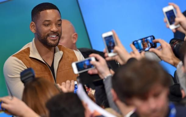 #Sanremo2015 #WillSmith in sala stampa