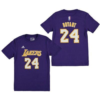 Los Angeles Lakers adidas Name & Number T-Shirt - Kobe Bryant - Youth: Youth Los Angeles Lakers Kobe Bryant… #nbastore #nbastoreeurope