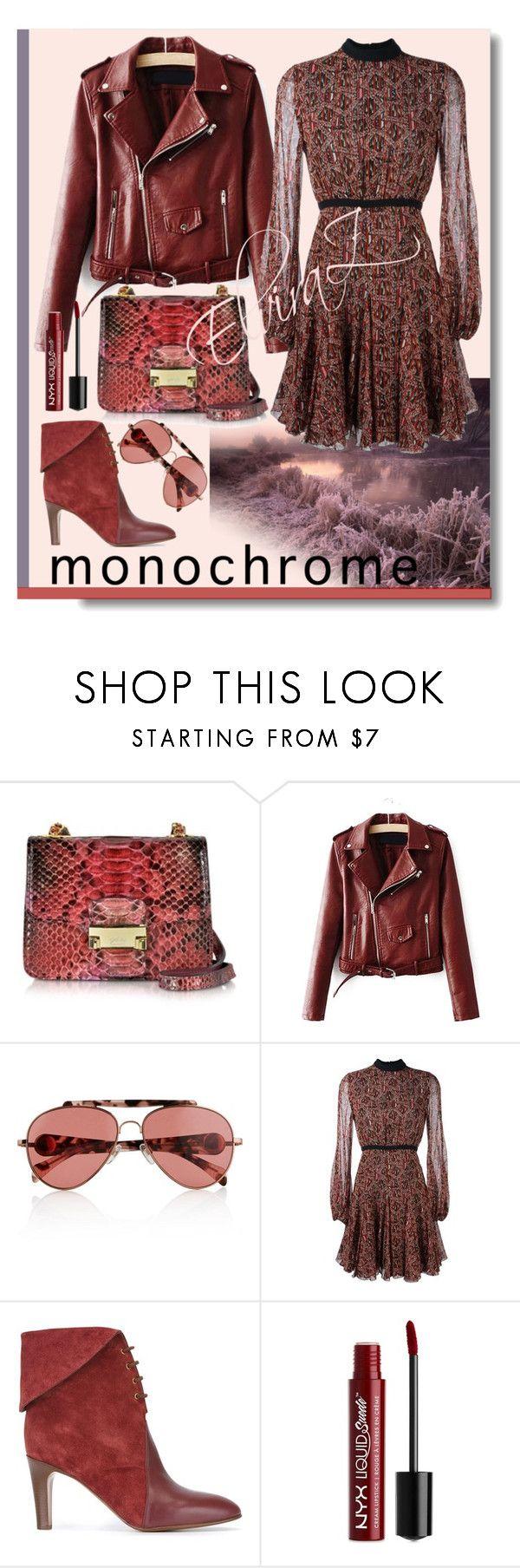"""monochrome"" by elza76 on Polyvore featuring мода, Ghibli, Tommy Hilfiger, Giambattista Valli, Chloé и NYX"