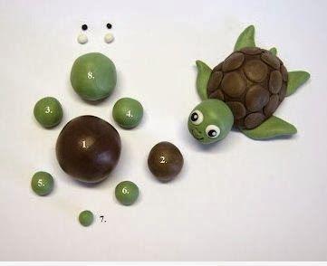 Tortuga de plastilina para hacer con niños ~ lodijoella
