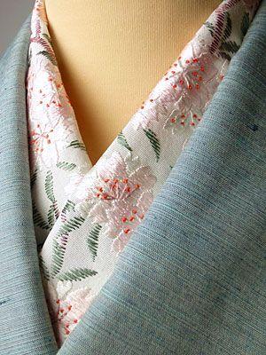 桜 手刺繍半襟