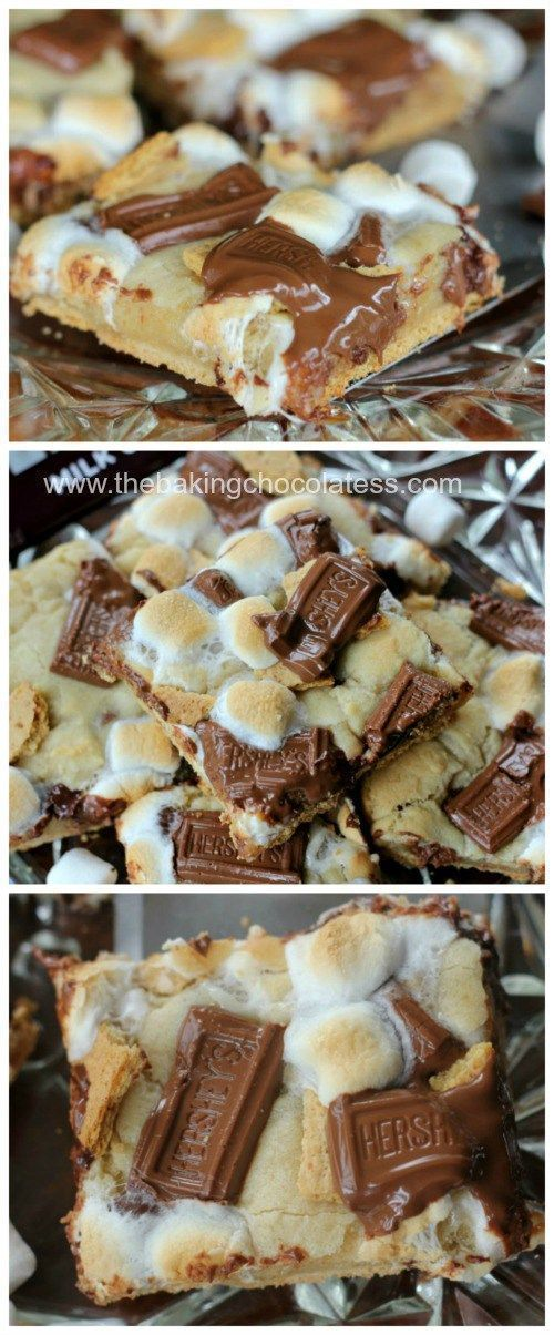 S'mores Bars | Yummy summer dessert recipe idea. Perfect for when you want to enjoy s'mores but can't cook single ones over a campfire.