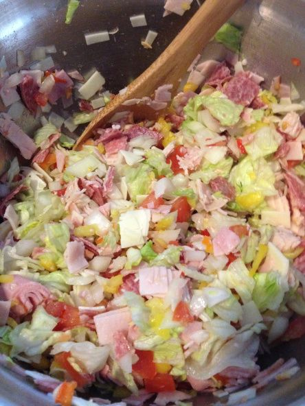 Italian Sub Dip. This sounds fabulous! Sub lettuce for kale! Will last longer!