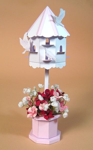 Card Craft / Card Making Templates - Beautiful 3D Dovecote by Card Carousel