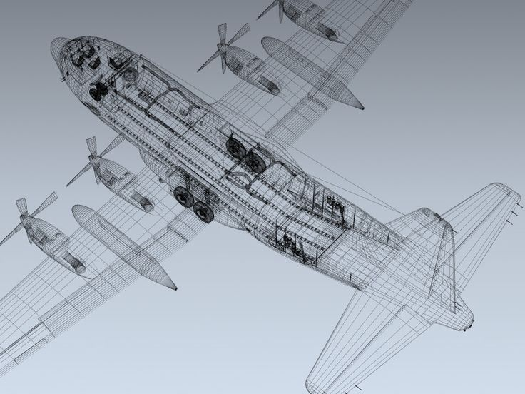 c 130h cargo plane 3d model