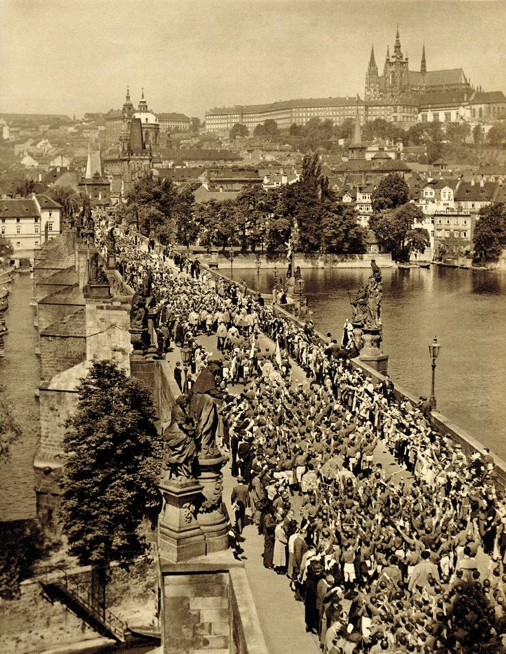 The grand Sokol March through the city of Prague