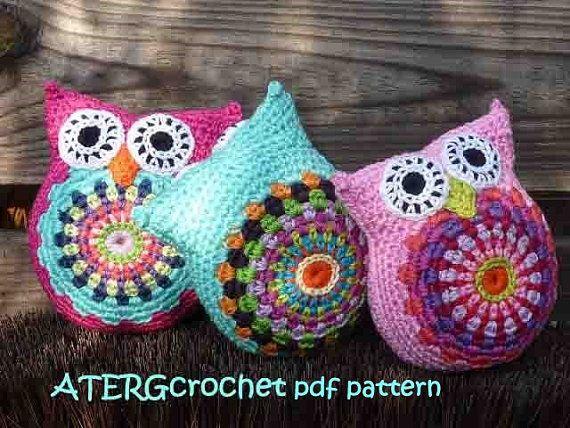 Crochet pattern lovely cuddly owl by ATERGcrochet