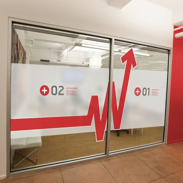 Office Window Clings : Window graphics in office wall stickers by vinyl