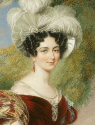 Mary Louise Victoria of Saxe-Coburg-Saalfeld, Duchess of Kent; by Sir George Hayter, c. 1835. She was the wife of Prince Edward Augustus, Duke of Kent. She was the mother of Queen Victoria of Great Britain.