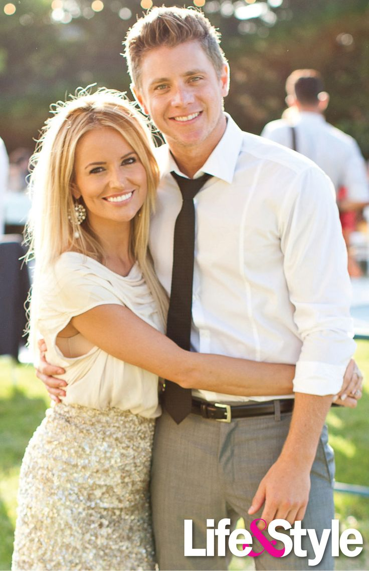 Emily Maynard and Jef Holm at Cassie Lambert's Wedding on August 4, 2012