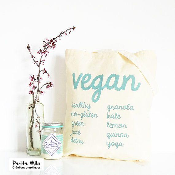 Tote bag vegan - sac cabas coton bio
