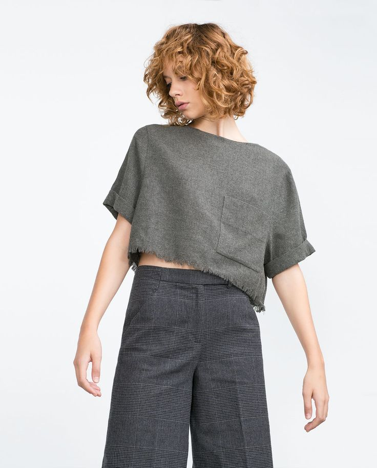 Image 2 of FRAYED TOP from Zara